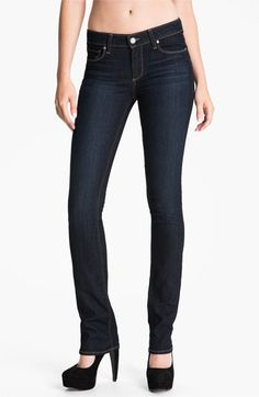 Paige Denim 'Skyline' Straight Leg Stretch Denim Jeans (Stream Wash) available at #Nordstrom