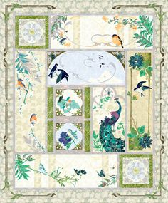 Aviary Block of the Month Kit - sent all at once Quilt Kits, Quilt Blocks, Bird House Kits, Wedding Ring Quilt, Bird Aviary, Batik Quilts, Block Of The Month, Craft Corner, Quilt Top