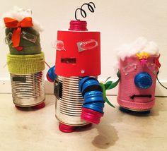 Barattoli di latta Robot