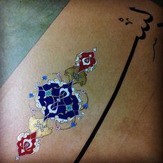 Detay... Tezhip aşk-ı #work#workinprogress#islamicart#tezhip#tezhib#tazhib#ottoman#caligraphy#gold#altın#tasarım#art#sanat#rumi#illumination#mywork#türksanatı#motif#artist#müzehhibe#hat#besmele#hilye#geleneksel#myart#instagram#anıyakala#esraomrzak