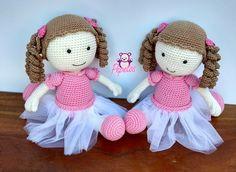 "164 curtidas, 12 comentários - Shirley Borges (@pepetosarteemcroche) no Instagram: ""Boneca Lica Nossa linda bailarina Toda feita com fio amigurumi #amigurumi #bonecas #doll #ballet…"""