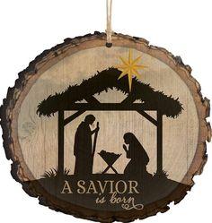 a savior is born nativity scene religious christmas ornament - Religious Christmas Decorations