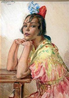 Mi espacio flamenco: julio 2010 miespacioflamenco.blogspot.com313 × 448Buscar por imagen George Apperley Inglaterra 1884-Tánger 1960 Gitana-Acuarela- 1926 Colección particular