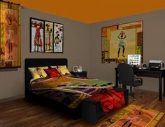 African Inspired Decor, Just LOVE How The Colors Pop!
