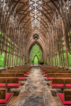 Glass Chapel in Eureka Springs, Arkansas.