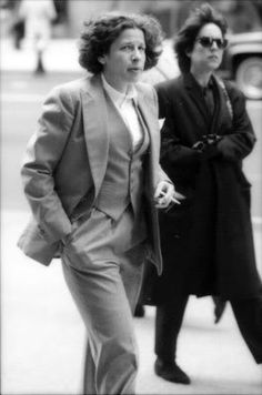 "But here's a chilling thought: There has never been a stereotype of how intellectual women dress, unless it is, like Fran Leibowitz, dressing like a man."" (Amy M. Spindler. 'Poised to Think, Not to Look Sexy,'  New York Times, July 8, 1997)."