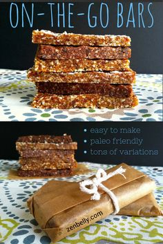 paleo on the go bars: a bunch of variations listed on page