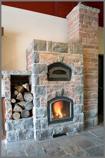 Eco Homes & Living: Russian Stove - The Most Efficient Wood Burner Stove Fireplace, Wood Burner, Log Homes, Cabin Homes, Most Efficient Wood Stove, Wood Stoves, Rocket Mass Heater, Fireplaces, Rocket Stoves