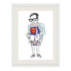 Superman Print perfect for any boy young or old.