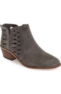 Angular cutouts and a low-slung shaft show off flashes of skin, making these boho-chic Western booties perfect for transitioning from warm summer months to the fading temperatures of fall.