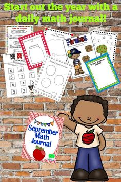 Start out the school year with daily math journals! I like to use the math journals as a morning job before our school day begins! I copy them in black and white. My sample is the original or colored sheet.