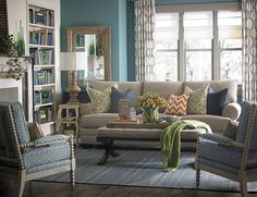 Great Room Sofa - colorful living room
