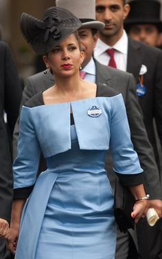 Princess Haya of Jordan, Ladies Day at Royal Ascot is traditionally seen as the height of English ladies fashion on June 2013 Princess Haya, Royal Princess, Victoria Pendleton, Autumn Phillips, Royal Ascot Hats, Royal Weddings, Royal Brides, Ladies Day, Womens Fashion