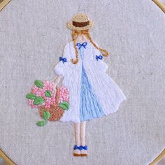 Japanese Embroidery Designs embroidery -- looks like Anne of Green Gables. Japanese Embroidery, Modern Embroidery, Embroidery Fashion, Embroidery Designs, Hand Embroidery Stitches, Crewel Embroidery, Embroidery Applique, Cross Stitch Embroidery, Thread Painting