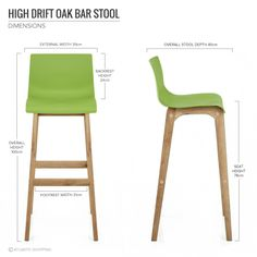 Green Bar Stools Within Drift Oak Stool Lime Nz Ideas 16 Green Bar Stools, Oak Bar Stools, Patio Chair Cushions, Patio Chairs, Kitchen Worktop Height, Grey Bar, Polywood Adirondack Chairs, Patterned Armchair, Upholstered Swivel Chairs