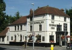 The George Inn, Portsdown Hill, is an Century Grade II Listed pub. Fabulouse views from the outside seating area. British Pub, Great British, Portsmouth Pubs, Outside Seating Area, Hampshire England, Recreational Activities, Close To Home, London Calling, 18th Century
