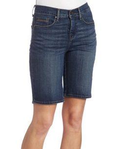 Levi's Women's Petite 512 Bermuda Jean, Social Blue, 6 Medium Levi's. $12.29. Pieced back pocket detail. Made in Pakistan. 99% Cotton/1% Spandex. 1 inch roll on hem. Machine Wash