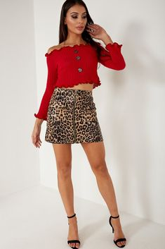Hit us up for the hottest celeb trends and seriously hot styles at killer prices. Brown Leopard, Short Dresses, Mini Skirts, Celebs, Zip, Collection, Style, Fashion, Short Gowns