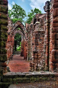 Old ruins, near church, Chester, England