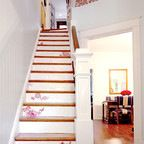 Painted staircase.