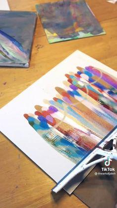 Art Sur Toile, Acrylic Pouring Art, Diy Painting, Acrylic Painting Tutorials, Diy Canvas Art, Diy Abstract Art, Art Lessons, Painting People, Painting Techniques Canvas