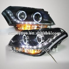419.99$  Watch now - http://aliqxf.worldwells.pw/go.php?t=672387430 - For KIA Soul LED Angel Eyes Head Lamp 2008-2011 year 419.99$