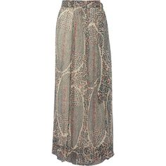 Étoile Isabel Marant Sesley printed silk-chiffon wrap maxi skirt ($490) ❤ liked on Polyvore featuring skirts, ivory, brown neck tie, brown maxi skirt, paisley maxi skirt, brown skirt and long brown skirt