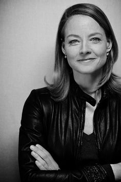 Jodie Foster-I love the pics where she's wearing leather! Very nice look on her!