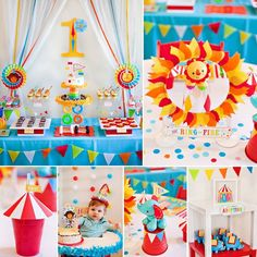 Excited to share our Big Top 1st Birthday Party theme for Fisher-Price! Lots of fun circus-inspired DIY projects and homemade treats in this one. Emoticon smile See more details on the blog: http://bit.ly/1zUbmZw