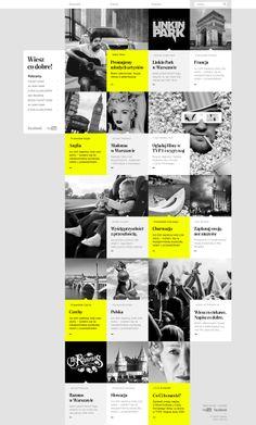 Skoda Wiesz co dobre by Malgorzata Studzinska via Behance Grid Web Design, News Web Design, Web Design Trends, Web Design Company, Ux Design, Web News, Seo Company, Website Design Layout, Web Layout