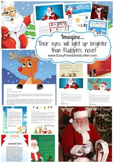 Letters From Santa! Personalized & Printable - with over 500 possible combinations you are sure to find the perfect Santa Letter for the little people in your life! www.EasyFreeSantaLetter.com