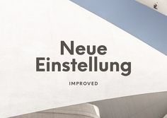Einstellung Typeface by Hanken Design Co. on @creativemarket