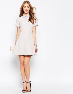 Image 4 ofASOS Structured Mini Shirt Dress
