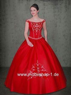 Rotes Sissi Kleid Ballkleid Abendkleid