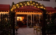 Miami, FL - Escape Miami's midtown district by retreating to Sugarcane Raw Bar Grill's 850-square-foot outdoor oasis, complete with vintage garden gates, star-shaped light canopies, and 52 seats. The restaurant has three distinct kitchens—a robata, a hot grill, and a raw bar—all of which deliver Latin-inspired food to the terrace.