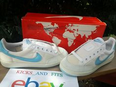 VTG OG 1982 Nike Lady Meadow Tennis NOS 5 DS rare original white powder blue  #Nike #Tennis