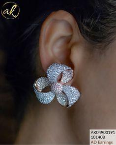 Inbox/WhatsApp 8148871715 for orders Bow Jewelry, Fashion Jewelry, Jewelry Design, Jewlery, Ear Earrings, Gold Earrings, Jewelry Trends 2018, Diamond Earing, Diy Schmuck