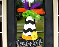 Halloween Witch Door Hanger Halloween Door by BRSouthernCrafts