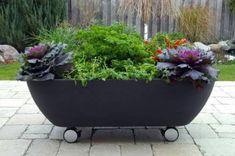 Space-Saving Tips for Small Vegetable Gardens: garden on wheels
