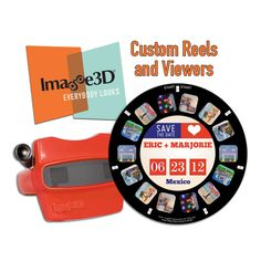 Hi! We are Image3D! We make customized reels and viewers, similar to the View-Master you had as a child. Yes, you read that right… now you can put your own images on to a reel! We've been in business for over 16 years, receiving orders from everyone from corporate titans to blushing brides (that might be you!). The owner of Image3D, Rich Dubnow, worked as the lead photographer for View-Master for over 20 years, so he knows a thing or two about reels and viewers.