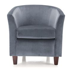Malta Tub Chair in Charcoal/Dark Legs