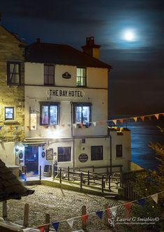 Bay Hotel Super Moon Rise - The North Yorkshire Gallery British Pub, Great British, British Isles, Yorkshire England, North Yorkshire, Beautiful Places In England, Bolton Abbey, Robin Hoods Bay, Northern England