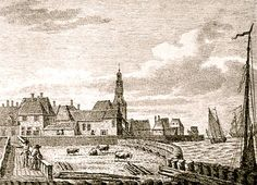 View of the town of Hindeloopen (Friesland, Netherlands) in the century. Dutch Netherlands, Gravure, 18th Century, Amsterdam, Frames, Drawings, Painting, Art, The Nederlands