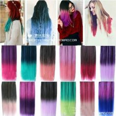 """26"""" Enstyle Supreme Neon Tangle Free Weaving 100% Human Color Hair Extension"""
