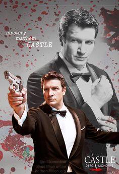 My season 7 poster. Castle Tv Series, Castle Tv Shows, True Blood, Ncis, White Collar, Buffy, Castle Season 7, Nathan Fillon, Alexis Castle