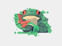 Redeyedfrog by Julia  #Design Popular #Dribbble #shots