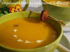 Sárgaborsó-krémleves szalonnával, kolbásszal Fondue, Food And Drink, Cheese, Ethnic Recipes