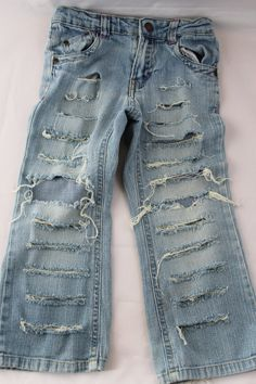 Distressed Jeans or Shorts- Ripped Jeans- Jeans with Chains- Baby Girl Jeans- Baby Boy Jeans- Newborn- Infant- Toddler- Kids Fashion Clothes by DivineUnlimited on Etsy