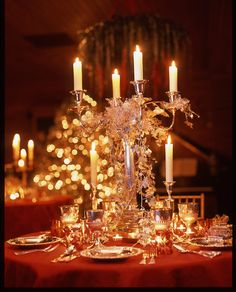 A Hadley Court Exclusive! Carolyne Roehm's Top 5 Christmas Decorating and Entertaining Tips, Just For You, Today, On Hadley Court! Christmas Table Settings, Christmas Tablescapes, Holiday Tables, Christmas Decorations, Table Decorations, Centerpieces, Christmas Arrangements, Holiday Dinner, Holiday Decorating