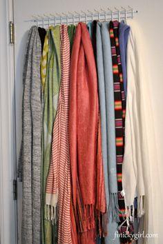 Scarf Storage Ideas | Finicky Girl